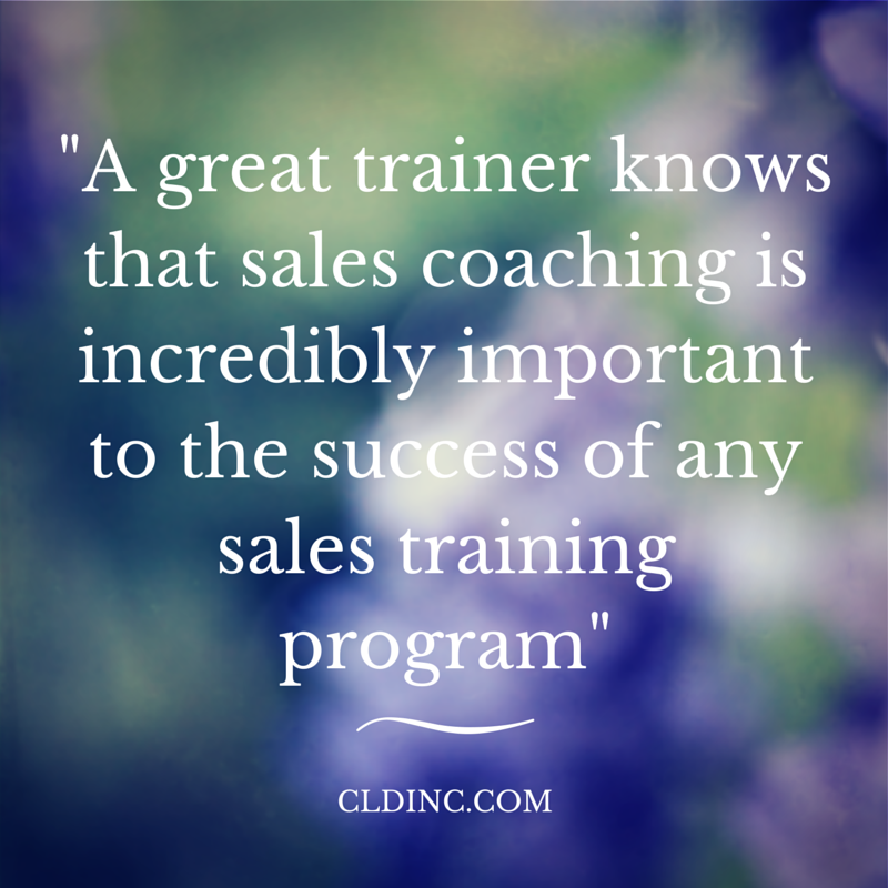 Sales trainers