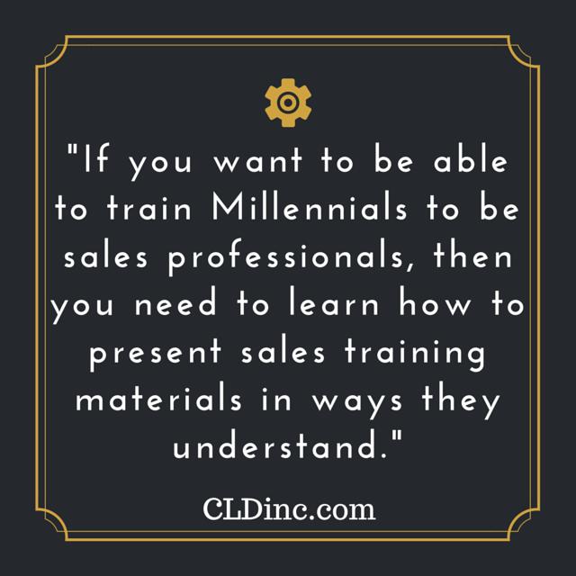 Training millennials